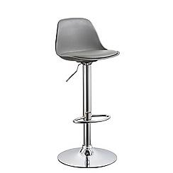 Debenhams - Grey 'Reno' gas lift bar stool