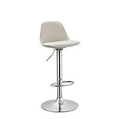 Debenhams - White 'Reno' gas lift bar stool