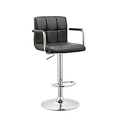Debenhams - Black 'Matrix' gas lift bar stool