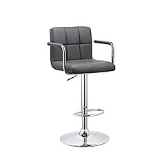 Debenhams - Grey 'Matrix' gas lift bar stool