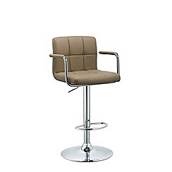 Debenhams - Beige 'Matrix' gas lift bar stool