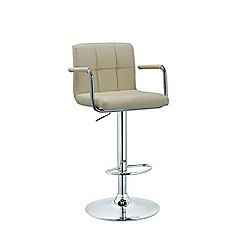 Debenhams - Cream 'Matrix' gas lift bar stool