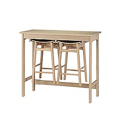 Debenhams - 'Oslo' bar table and 2 bar stools set