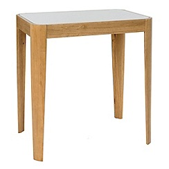 Debenhams - Oak and glass 'Milano' table