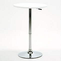 Debenhams - White 'Nido' gas lift table