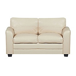 Debenhams - Cream bonded leather 'Lola' sofa