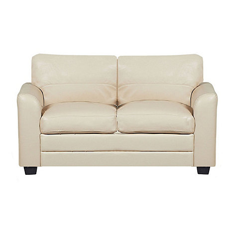 Debenhams - Cream bonded leather +Lola+ sofa
