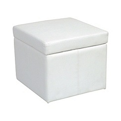 Debenhams - Bonded leather 'Kubic' storage cube