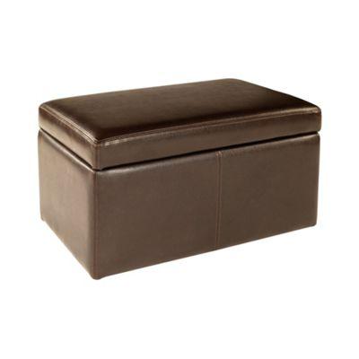 Debenhams Bonded leather Kubic storage bench