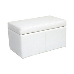 Debenhams - Bonded leather 'Kubic' storage bench