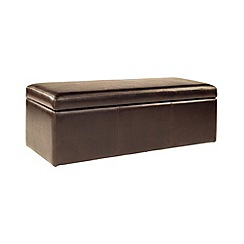 Debenhams - Bonded leather 'Kubic' storage ottoman