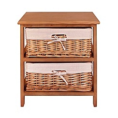 Debenhams - Natural 'Wood and Weave' 2 drawer chest
