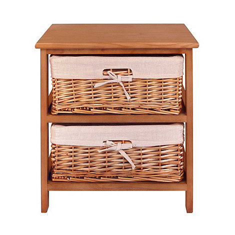 Debenhams - Natural +Wood and Weave+ 2 drawer chest