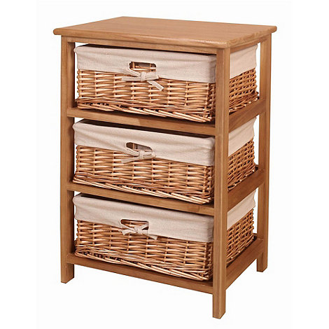 Debenhams - Natural +Wood and Weave+ 3 drawer chest