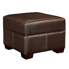 Debenhams - Bonded leather 'Kubic' footstool