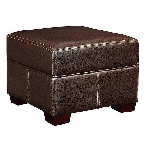 Debenhams - Bonded leather +Kubic+ footstool