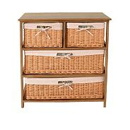 Wood & Weave Four Drawer Chest