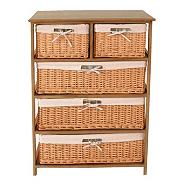 Wood & Weave 5 Drawer Chest