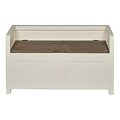 Debenhams - Pine and cream painted 'Hampton' storage bench