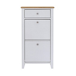 Debenhams - Oak effect and white 'Georgia' shoe cabinet