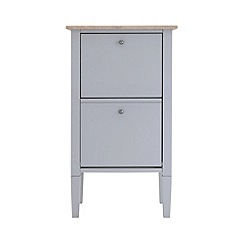 Debenhams - Oak effect and grey 'Rustic' shoe cabinet