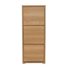 Debenhams - Oak effect 'Benjamin' shoe cabinet