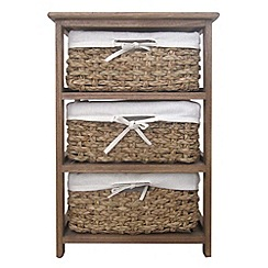 Debenhams - Brown wicker 'Olympia' 3 drawer chest