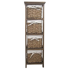Debenhams - Brown wicker 'Olympia' tall 4 drawer chest