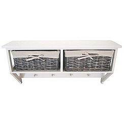 Debenhams - Grey wicker 'Athena' 2 drawer wall unit