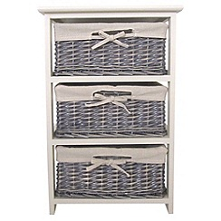 Debenhams - Grey wicker 'Athena' 3 drawer chest
