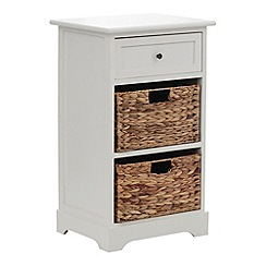 Debenhams - Cream and wicker 'Vermont' small chest