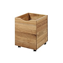 Debenhams - Set of 3 oak 'Zoe' storage boxes