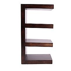 Debenhams - Mango wood open shelving unit