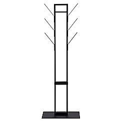 Debenhams - Black 'Victor' coat hanger with umbrella stand
