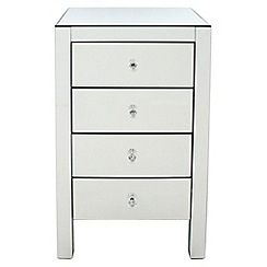Debenhams - Mirrored 4 drawer chest
