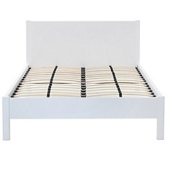 Debenhams - White gloss 'Maxi' double bed frame