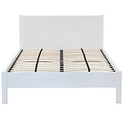 Debenhams - White gloss 'Maxi' king-size bed frame