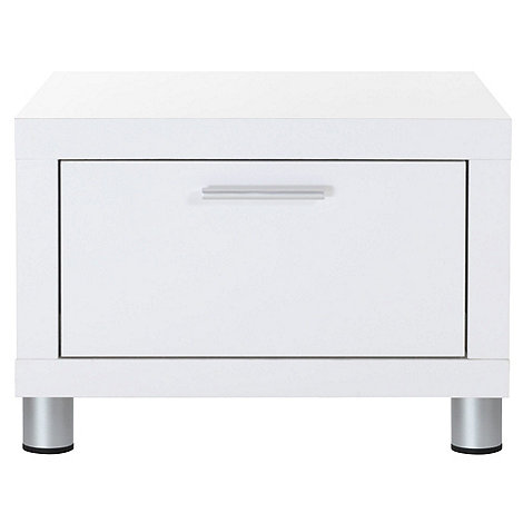 Bedside Cabinets White Gloss White Gloss 'maxi' Bedside