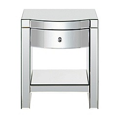 Debenhams - Mirrored 'Mayfair' bedside cabinet with single drawer