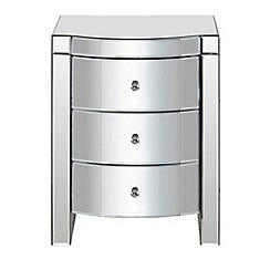 Debenhams - Mirrored 'Mayfair' 3 drawer chest