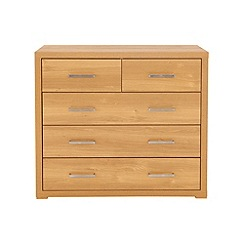 Debenhams - Oak effect 'Benjamin' 5 drawer chest