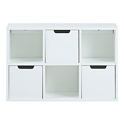 Debenhams - White 'Buca' wall storage unit