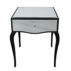 Debenhams - Mirrored 'Reflections' bedside cabinet with single drawer