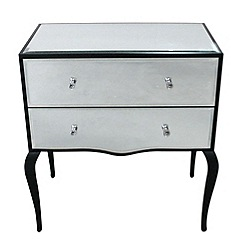 Debenhams - Mirrored 'Reflections' 2 drawer chest