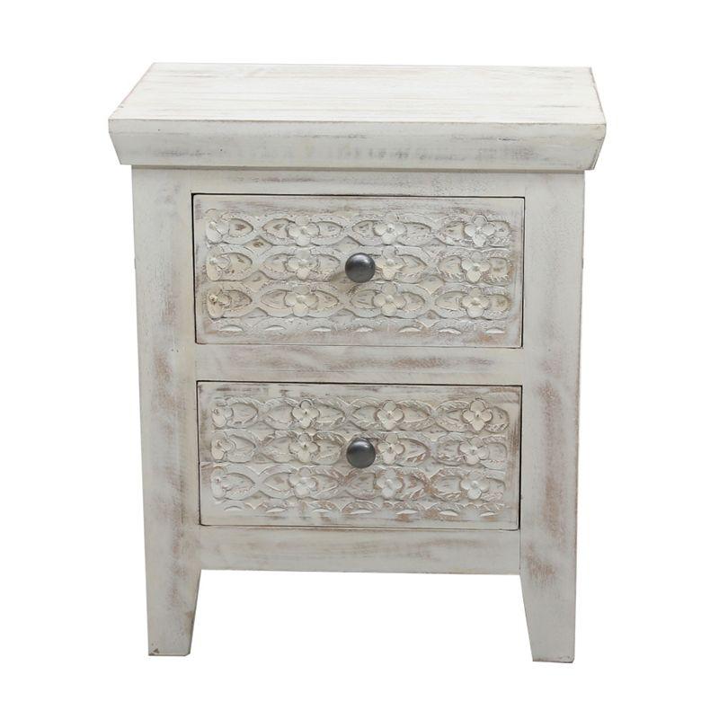 Debenhams Mango Wood ashoka Bedside Cabinet With 2 Drawers,