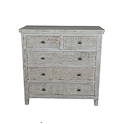 Debenhams - Mango wood 'Ashoka' 5 drawer chest