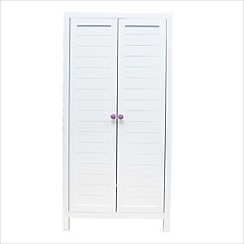 Debenhams - White 'Stardust' junior double wardrobe