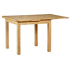 Debenhams - Oak finished 'Fold' extending table