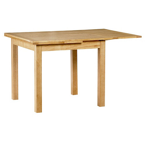 Debenhams - Oak finished +Fold+ extending table