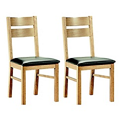 Debenhams - Pair of oak finished 'Fold' chairs